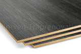 ingezoomd dubbel stootboord van cpl materiaal in de kleur antraciet 40x136cm
