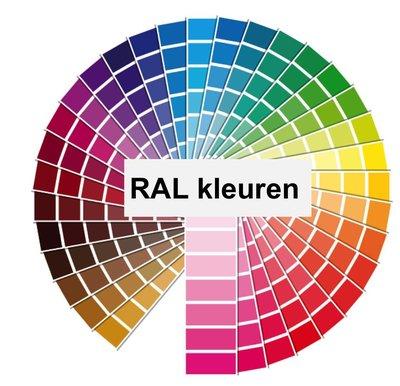 Trapleuning gecoat in afwijkende RAL kleur