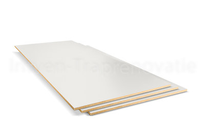Dubbel Stootbord CPL 40 x 136 cm (ral9001)