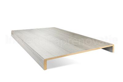 dubbele overzettrede van cpl materiaal in de kleur es grijs 60x90cm
