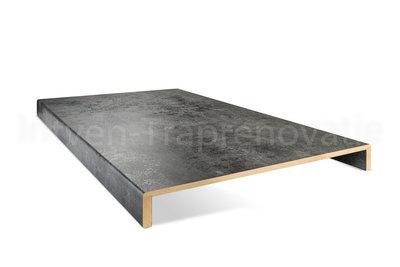 dubbele overzettrede van cpl materiaal in de kleur donker beton 60x90cm