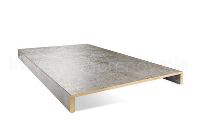 dubbele overzettrede van cpl materiaal in de kleur licht beton 60x136cm