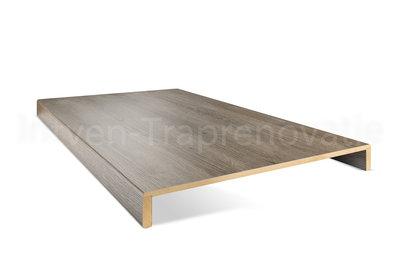 dubbele overzettrede van cpl materiaal in de kleur eik grijs 60x136cm