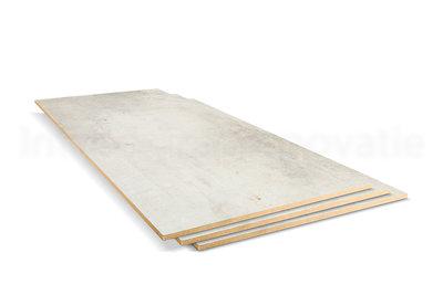 dubbel stootboord van cpl materiaal in de kleur créme 40x90cm