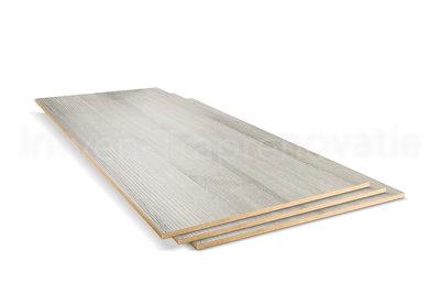 dubbel stootboord van cpl materiaal in de kleur es grijs 40x90cm