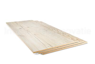 dubbel stootboord van cpl materiaal in de kleur spar 40x90cm