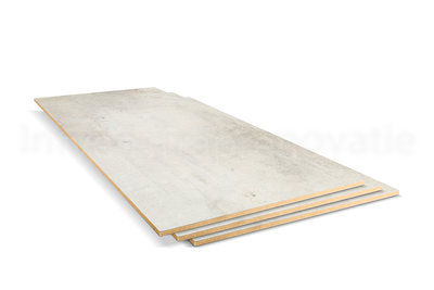 dubbel stootboord van cpl materiaal in de kleur créme 40x136cm