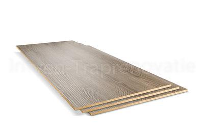 dubbel stootboord van cpl materiaal in de kleur eik grijs 40x136cm