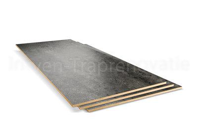 dubbel stootboord van cpl materiaal in de kleur donker beton 40x136cm