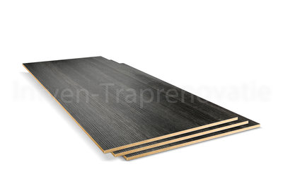 dubbel stootboord van cpl materiaal in de kleur antraciet 40x136cm