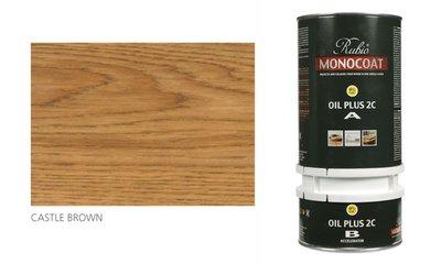 rubio monocoat olie in de kleur castle brown