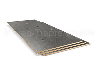 dubbel stootboord van cpl materiaal in de kleur aluminium 40x90cm